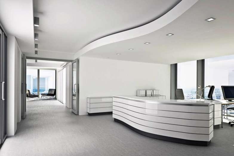 etaLight Anwendung Empfang im modernen Bürogebäude