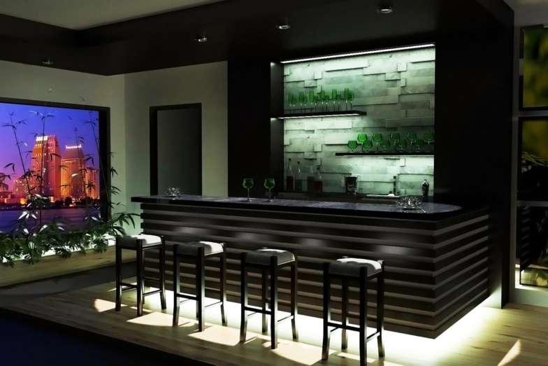 etaLight Anwendung Bar mit Hockern und Beleuchtung
