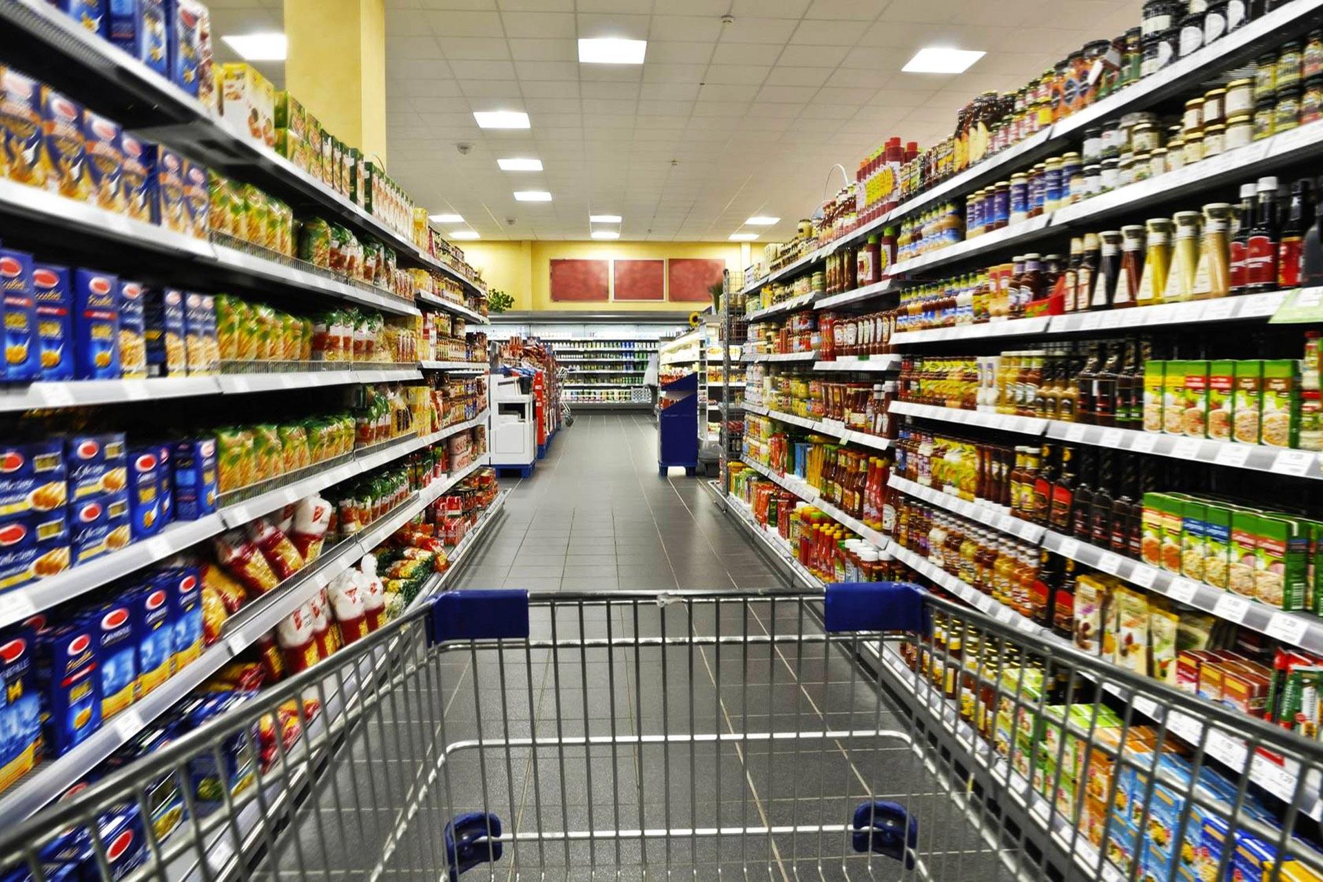 etaLight Anwendung Einkaufsladen mit Einkaufswagen und Regalen