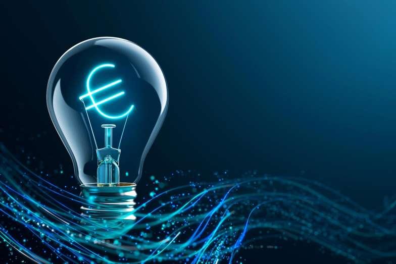 etaLight Euro Lampe Finanzierung Blau